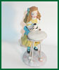Alice, Drink Me polymer clay miniature figure