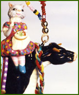 Cow, polymer clay OOAK by leigh