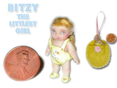 Bitzy the littlest girl, clay.